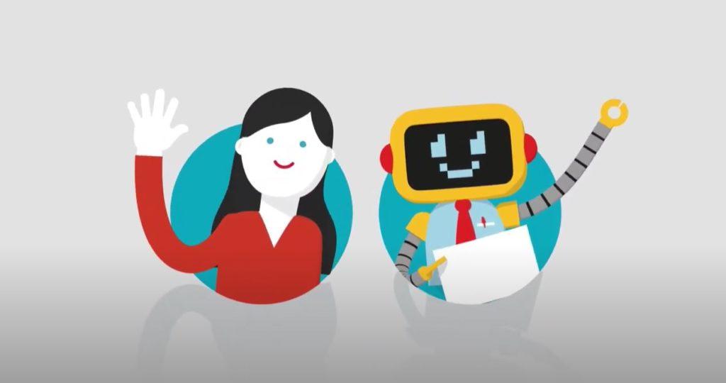 Menneske og robot samarbeider