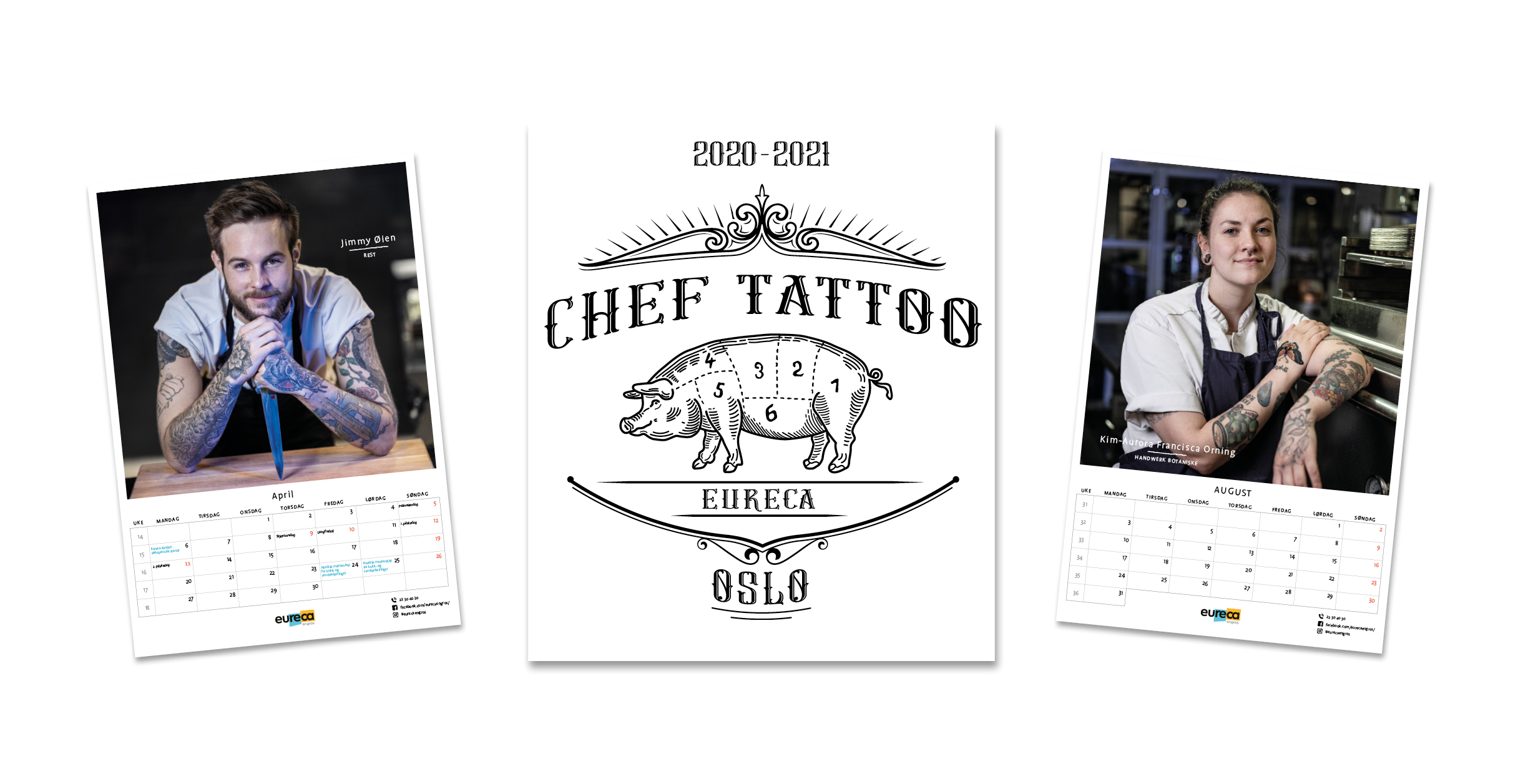 Chef tattoo kalender