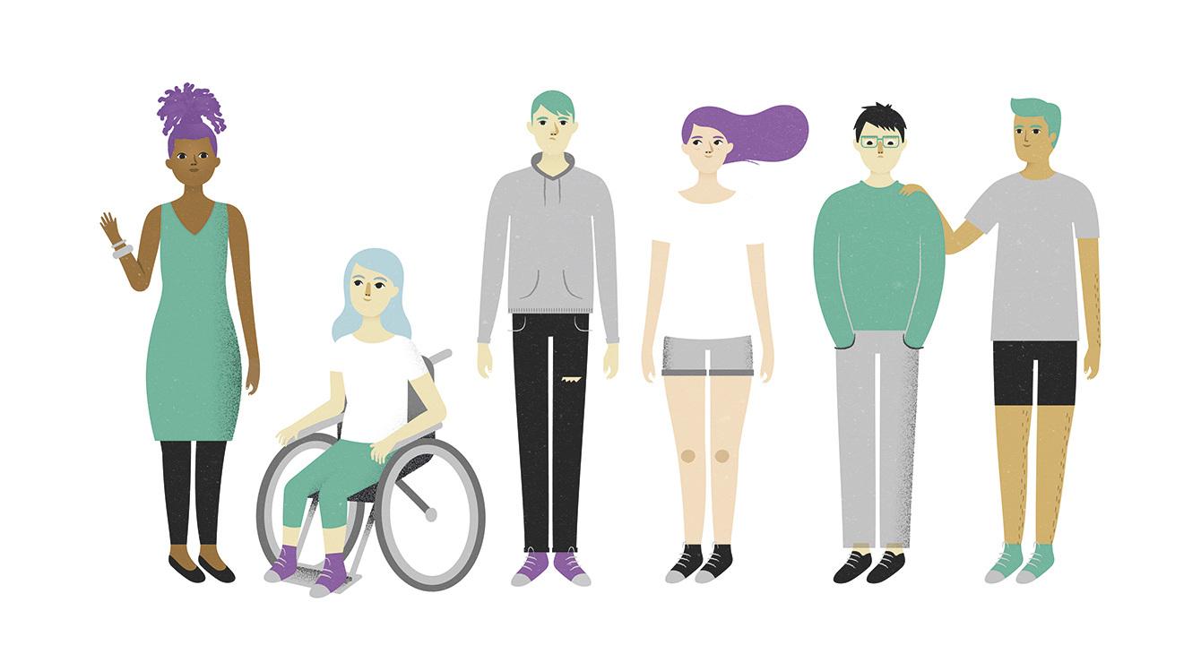Mennesker i alle farger